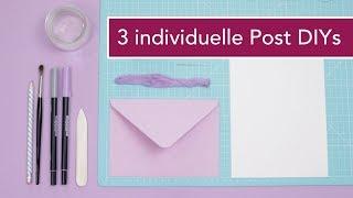3 DIYs:  Hochzeitseinladung | Urlaubspost | professionelle Briefe individualisieren