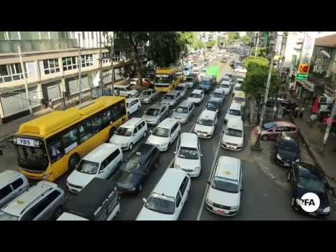 Taxi Drivers in Yangon Face Increasing Competition