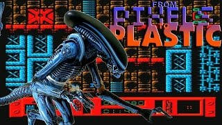 NECA Toys 8-Bit Video Game Alien 3 Dog Alien Figure Video Review (From Pixels to Plastic)