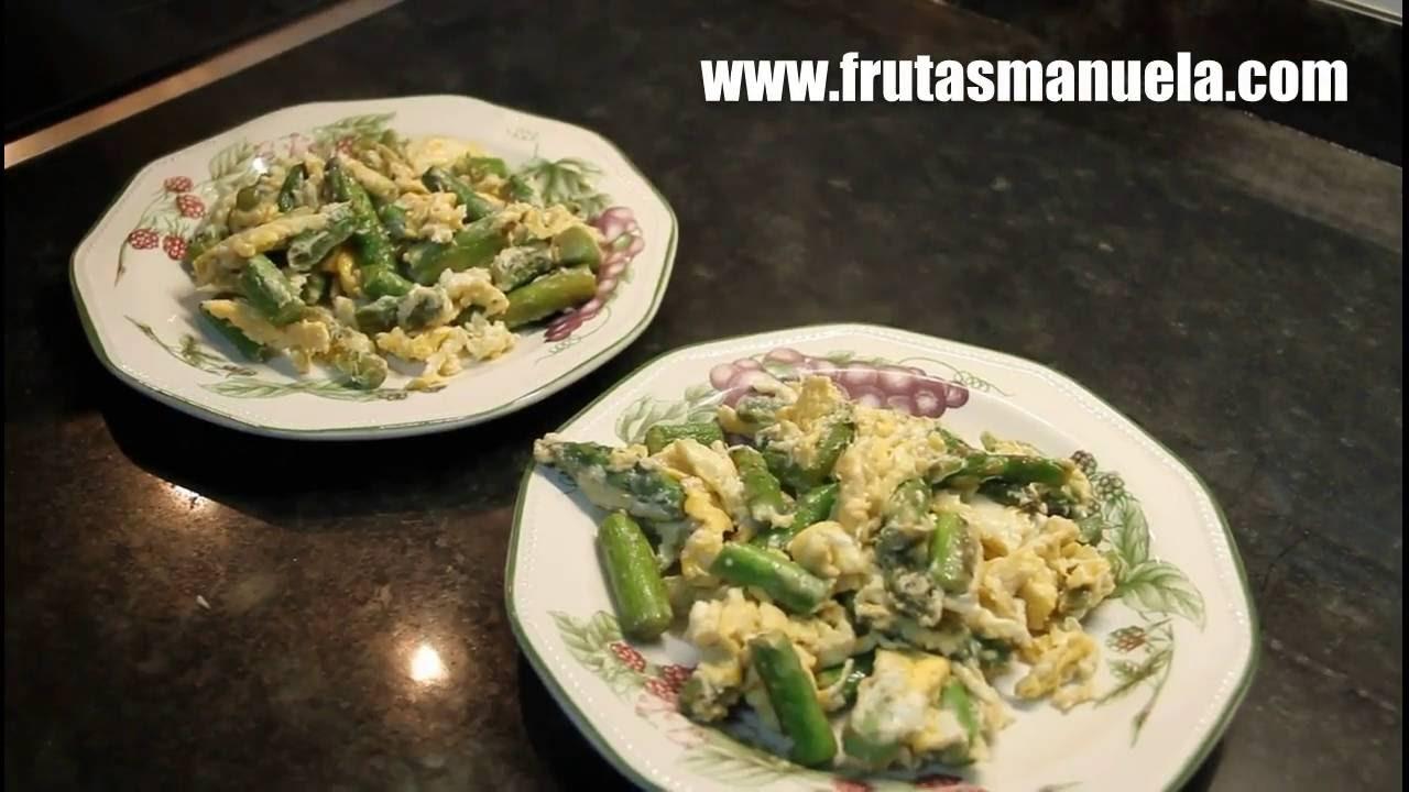 Limpiar y preparar esp rragos verdes frutasmanuela youtube for Cocinar esparragos