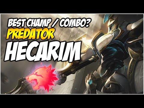 PREDATOR HECARIM, BEST NEW RUNE / CHAMP COMBO?   League of Legends