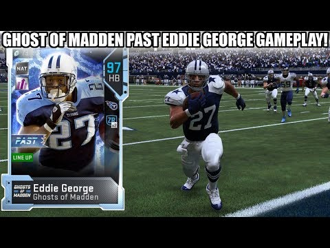 GHOST OF MADDEN PAST EDDIE GEORGE GAMEPLAY! BOWLING BALL! | MADDEN 19 ULTIMATE TEAM