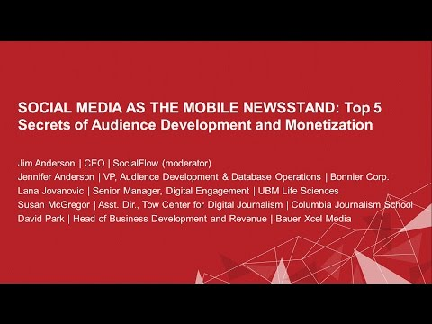 Social Media As Mobile Newsstand
