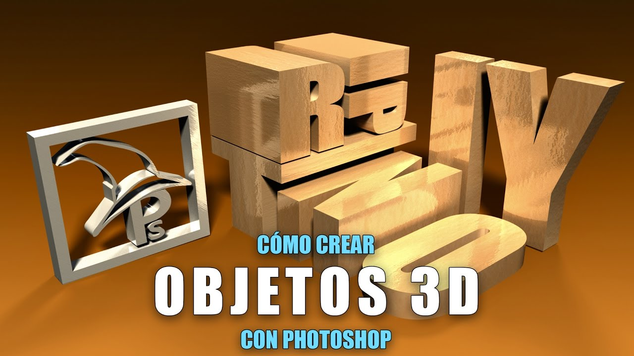 Cómo Crear Objetos 3d En Photoshop Youtube