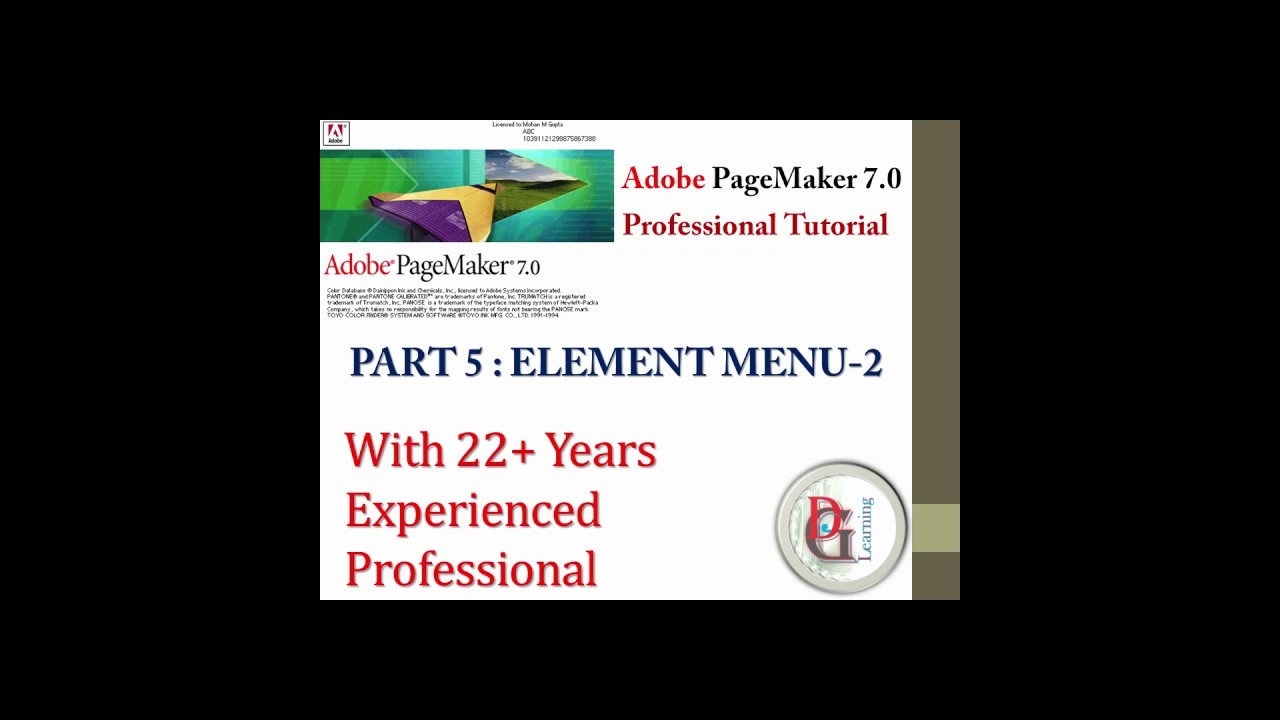 Adobe Pagemaker  Tutorial 5 Part 2