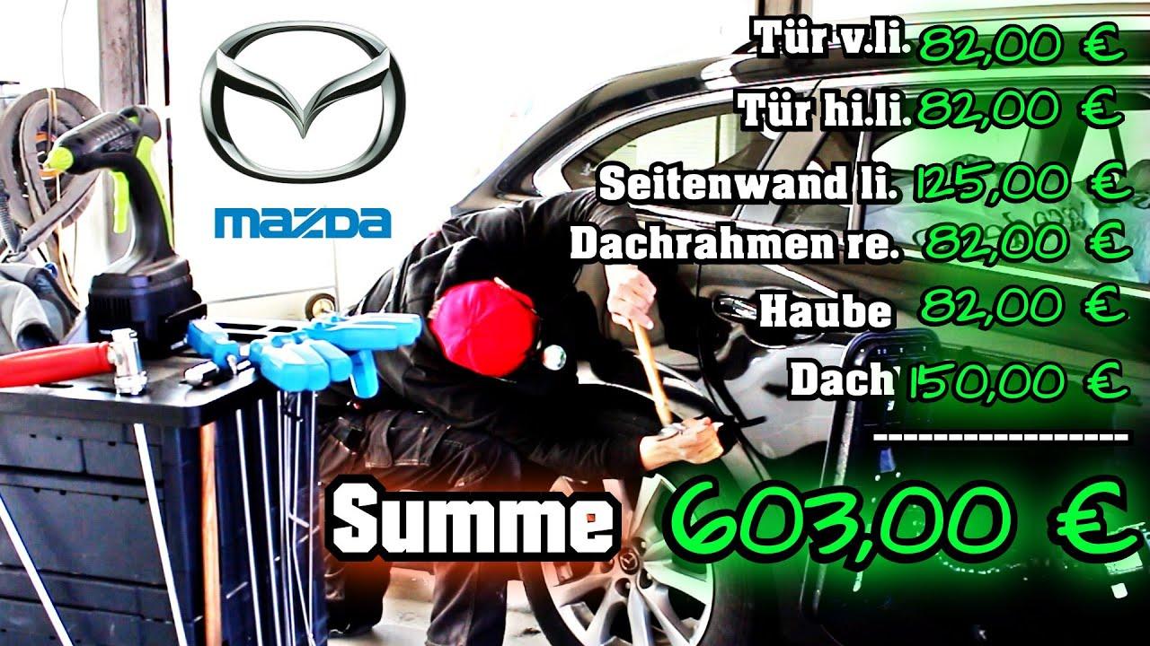 Dellen entfernen am Mazda 6 Leasing Rückläufer | so verdient man 600€ |Ausbeultechnik Ullrich