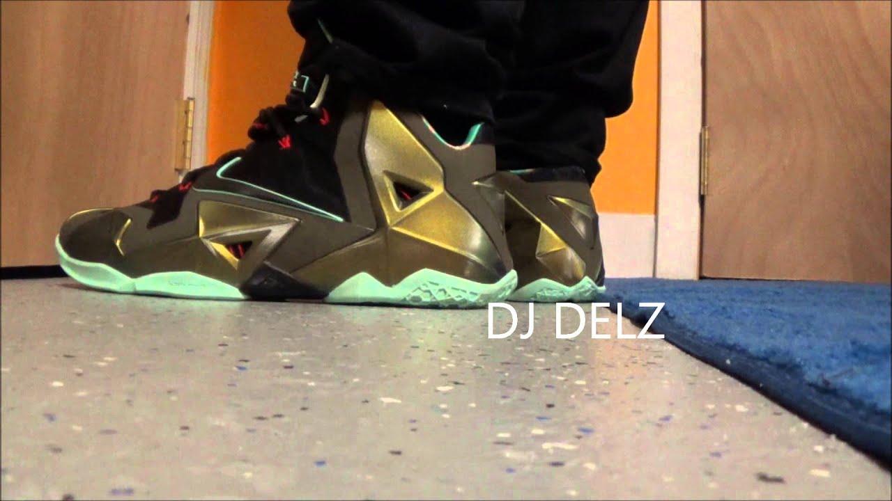 Nike Lebron XI 11 Kings Pride Parachute Gold Sneaker On ...