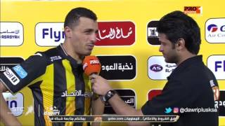 أحمد العكايشي: سعيد بما قدمته في المباراة وأعد الجمهور بالتحسن