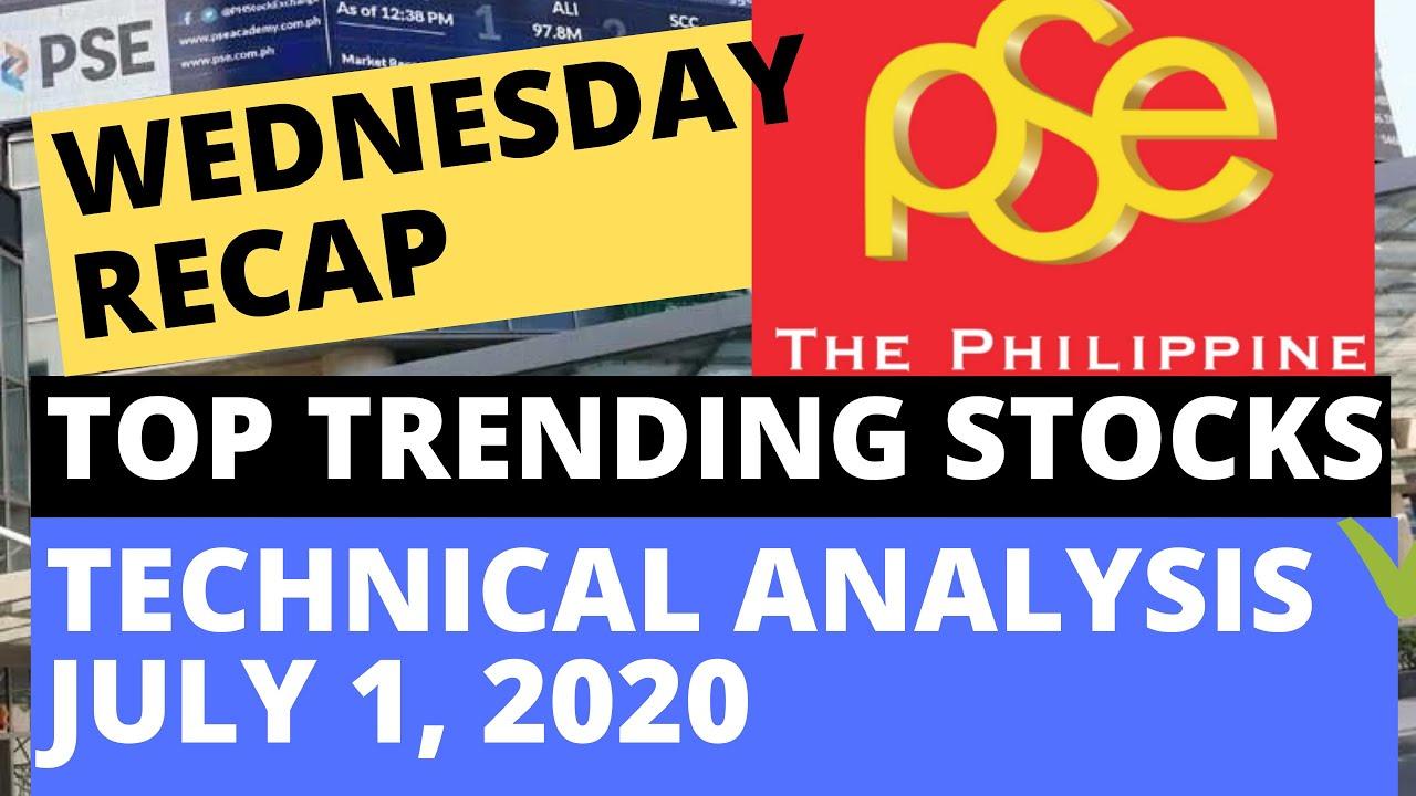 TOP TRENDING STOCKS IN PSE: WEDNESDAY RECAP | TECHNICAL ANALYSIS |  JULY 1, 2020
