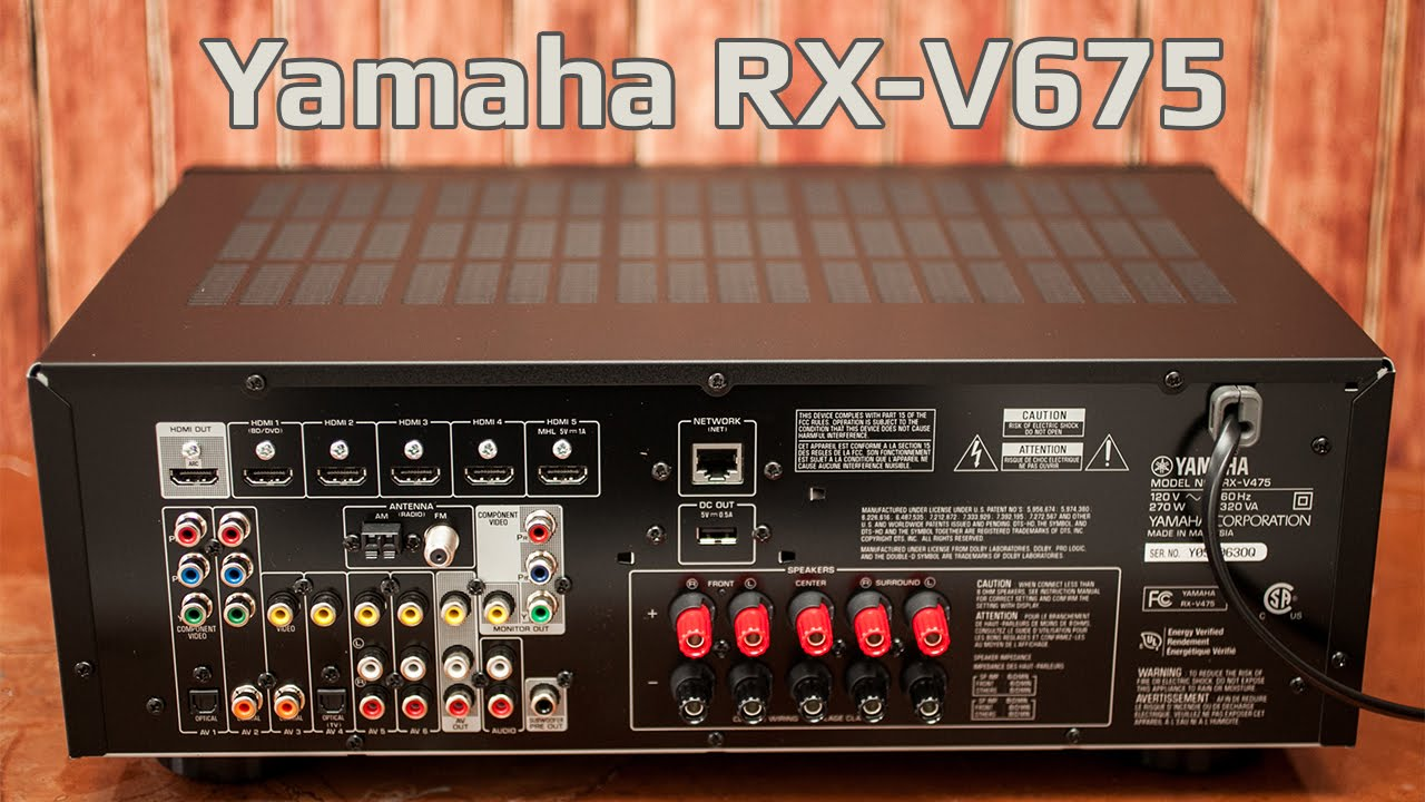 yamaha rx v675 network av receiver airplay speakers. Black Bedroom Furniture Sets. Home Design Ideas