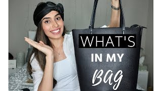 WHAT'S IN MY BAG? | WORK + ORGANISATION TIPS | Michael Kors | bySanjna