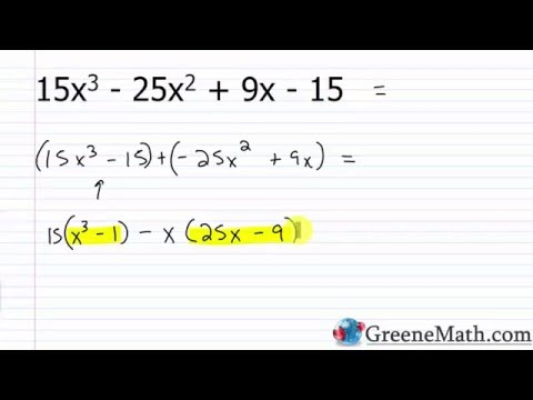Algebra I Lesson 38: Factoring by Grouping