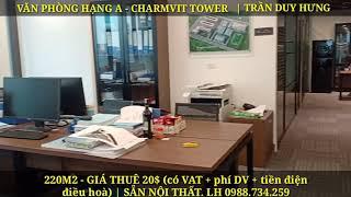 HDG OFFICE | Văn Phòng cho thuê hạng A tại toà nhà Charmvit Tower 117 Trần Duy Hưng