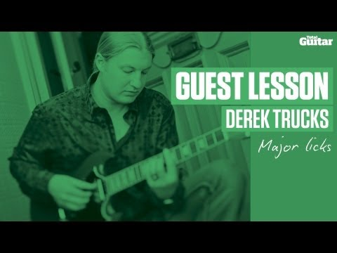 Derek Trucks Guest Lesson - Major licks (TG240)