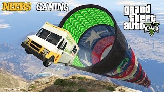 GTA 5 MODS - NEW ULTIMATE STUNT JUMP!!! (Grand Theft Auto Gameplay Video)