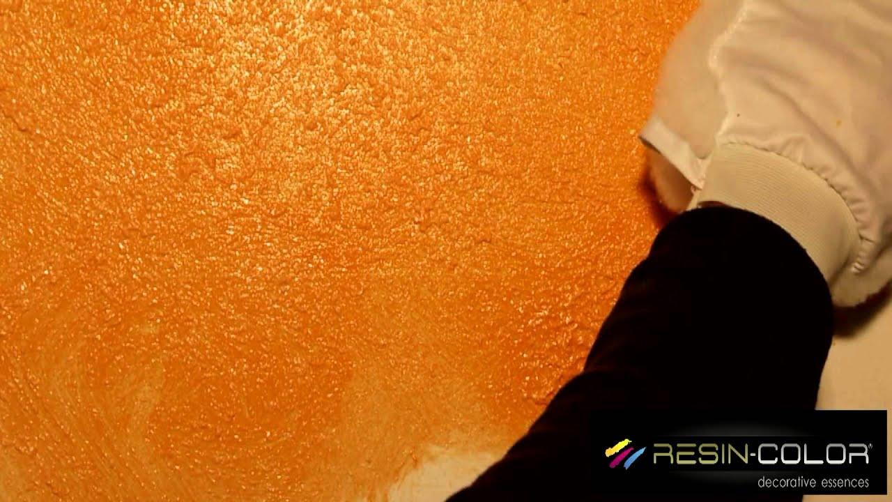 terre d'oriente effetto guantato resin-color - YouTube