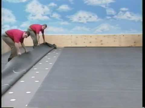 Firestone Epdm Adhered System Youtube