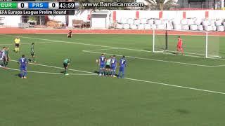 Europa FC - Prishtina FC 1-0 Penalty kick