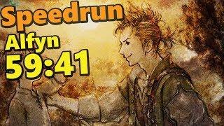 SPEEDRUN : Octopath Traveler Alfyn Single Story