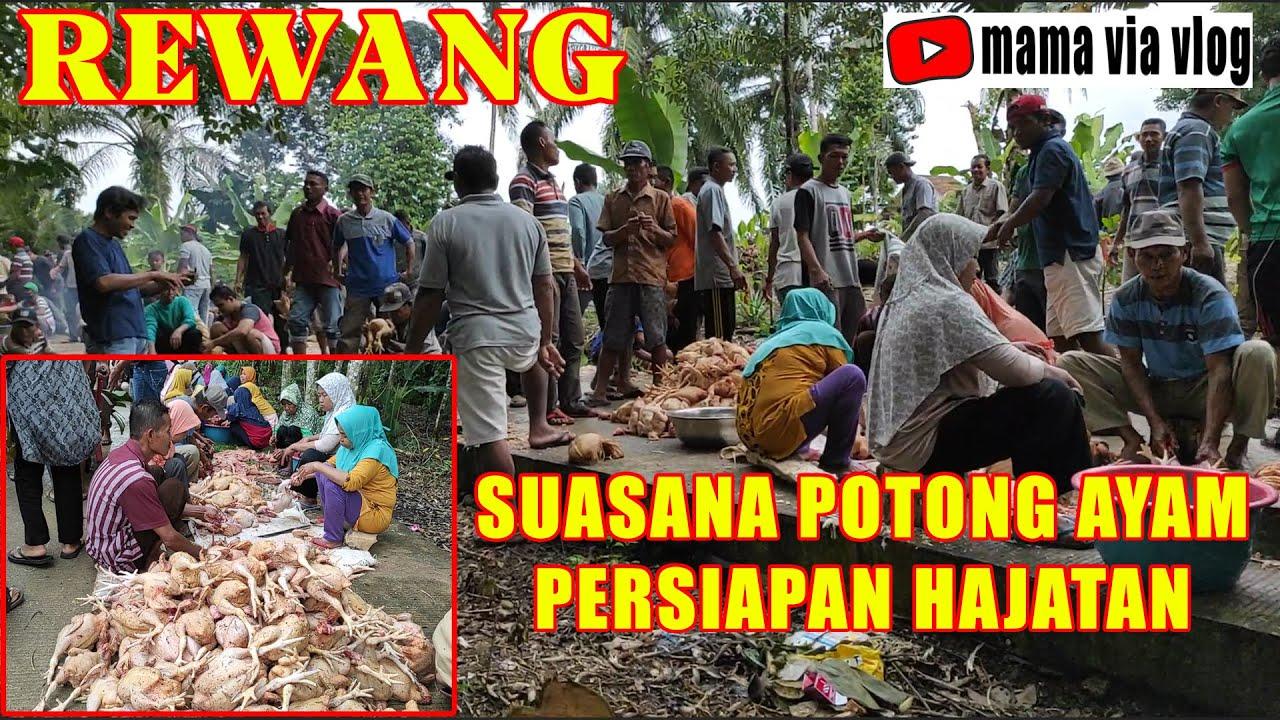 Tradisi Rewang-Potong Ayam Persiapan Buat Munjong - YouTube