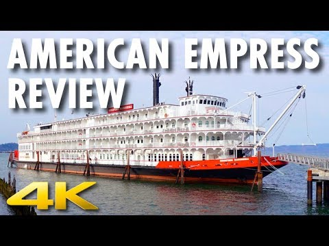 American Empress Tour & Review ~ American Queen Steamboat Company ~ Cruise Ship Review [4K Ultra HD]