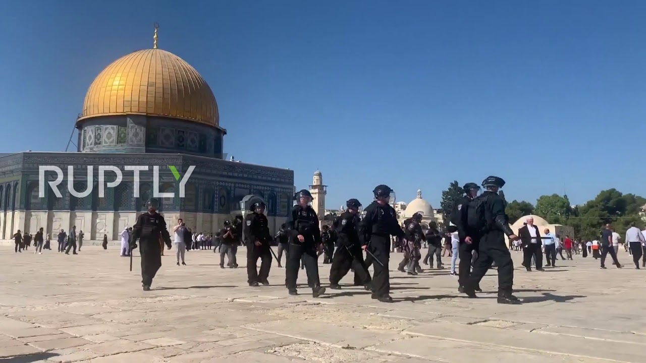 State Of Palestine Worshippers Pray At Al Aqsa On Eid Al Adha Before Clashes Youtube