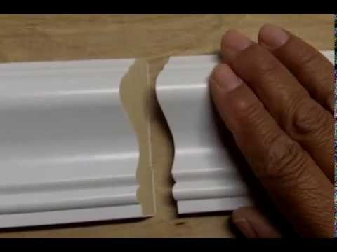 How to Attach 2 Pieces of Baseboard or Chair Rail with a ...