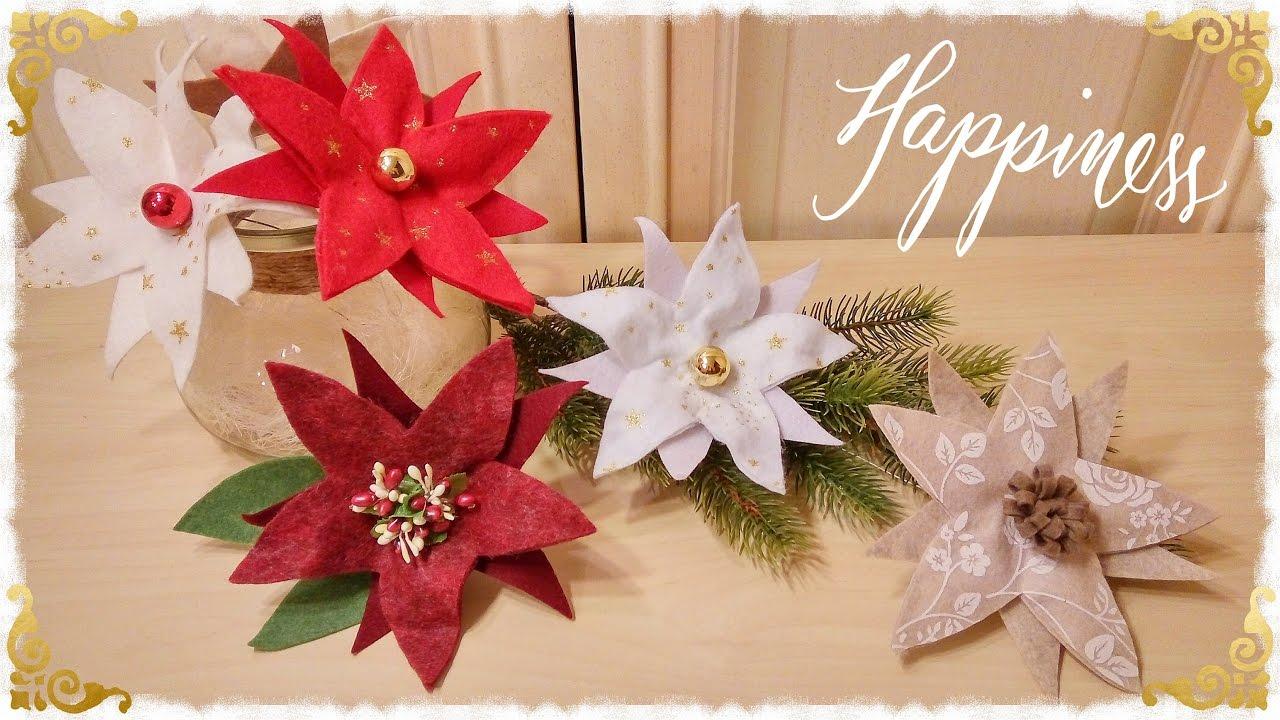 Stelle Di Natale Da Costruire stelle di natale 3 in 1 semplici & senza cucire
