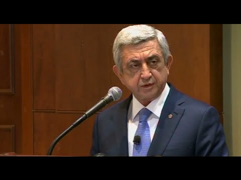 President Of Republic Of Armenia Serzh Sargsyan's working visit to the USA MARCH 29 -31 2016
