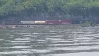 CXS mixed manifest freight on River Subdivision