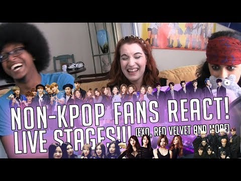 NON K-POP FANS REACT! LIVE STAGES! (EXO, RED VELVET, AND MORE)