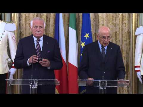 Press statement by the  President Giorgio Napolitano and by President Klaus