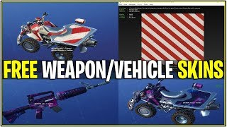*NEW* LEAKED 2 EXCLUSIVE WEAPON/VEHICLE SKINS! *Galaxy & Candy Cane* (Fortnite)