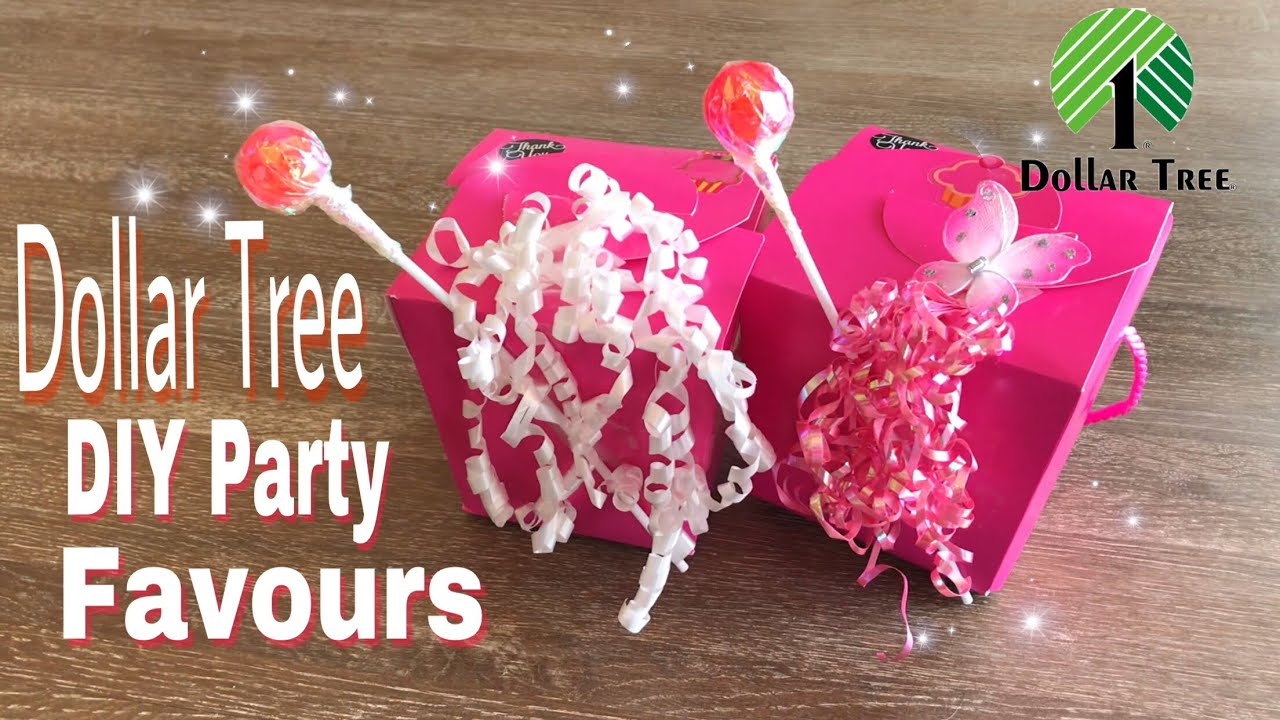 Dollar Tree DIY Party Favours - YouTube