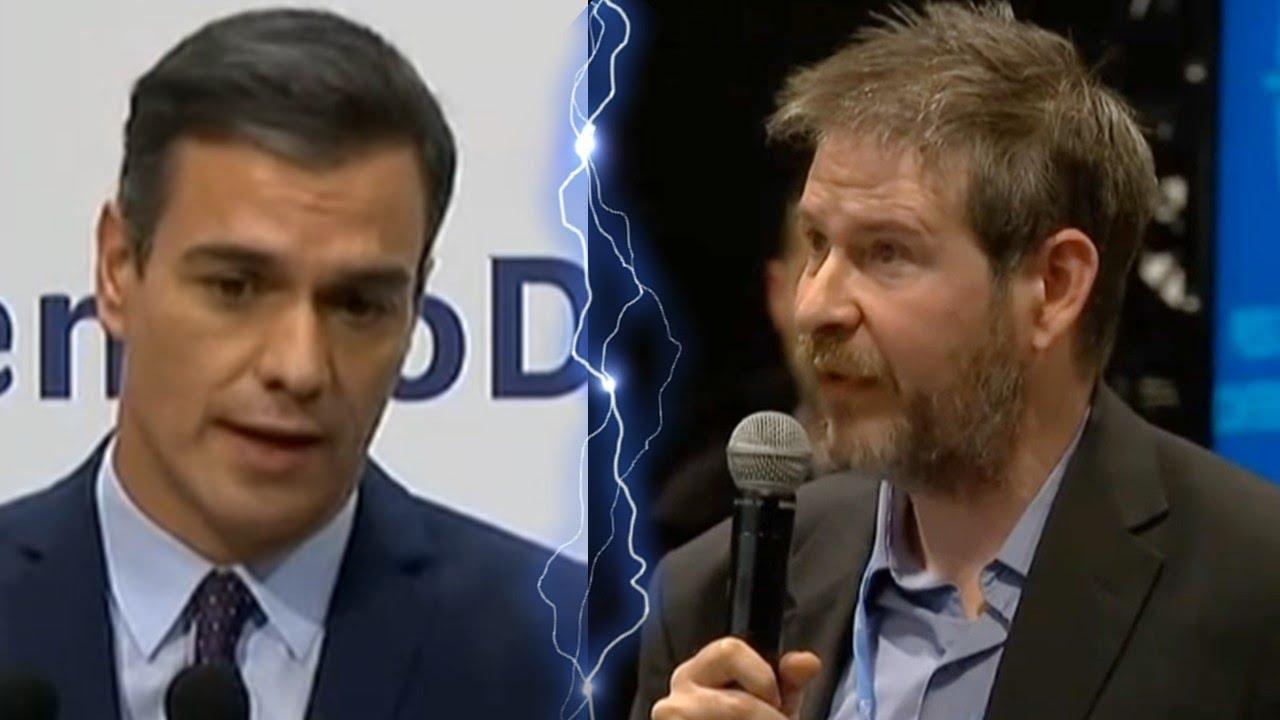 Un periodista americano ACOJONA a SÁNCHEZ en directo por llamar FANÁTICO a TRUMP
