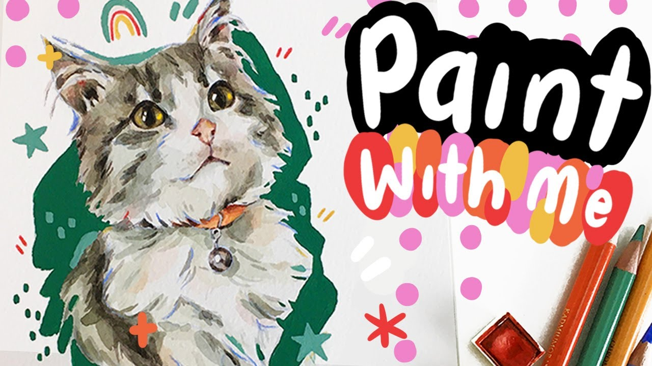 Paint With Me! Painting Cute Watercolour Animals