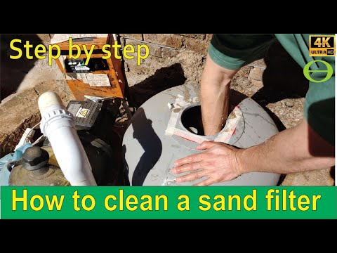 How to clean a pool sand filter - step by step