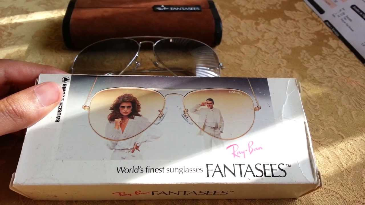 8720011f24 Vintage Ray Ban Fantasees Sunglasses - YouTube
