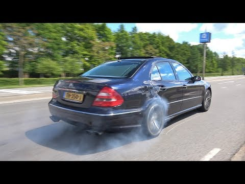 Mercedes-Benz E55 AMG V8 Kompressor BURNOUTS & ACCELERATIONS!
