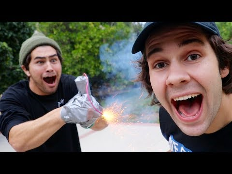 Thumbnail: TAPING A FIREWORK TO HIS HAND!! (EXPLOSION)