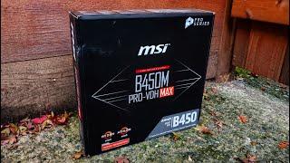 MSI B450M PRO-VDH MAX (Ryzen 3000 Ready) Motherboard Unboxing