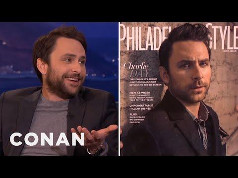 Charlie Day's Douchey Photoshoot  - CONAN on TBS