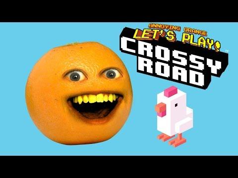 Annoying Orange Plays CROSSY ROAD