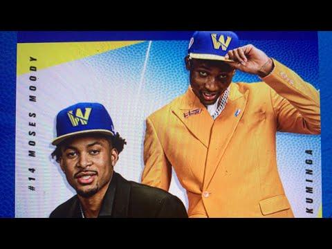 Warriors Introduce 2021 NBA Draft 1st Round Picks Moses Moody And Jonathan Kuminga