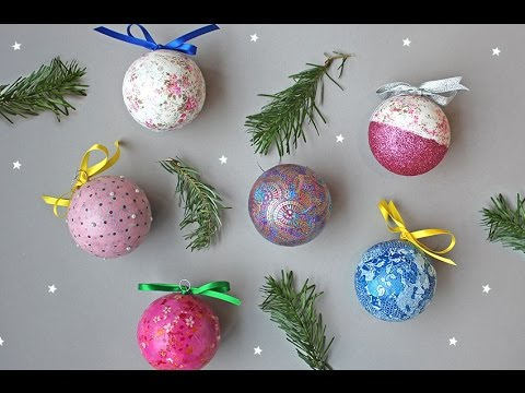 How To Make Your Own Christmas Decorations Youtube