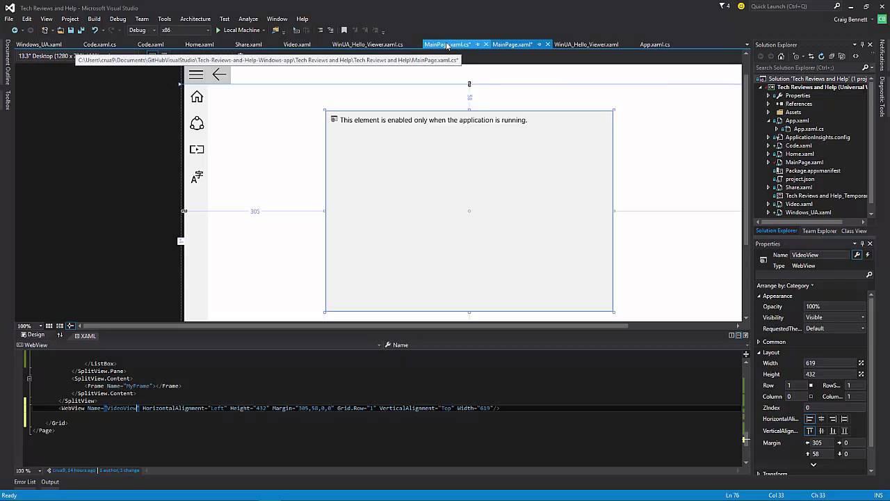 5- Windows 10 Universal App- WebView