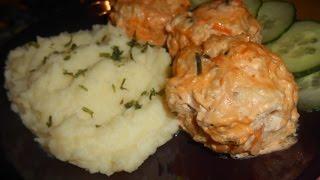 """Тефтели куриные """"Детсадовские"""" с картофельным пюре/Meatballs chicken""""Kindergarten"""" recipe #Рецепты"""