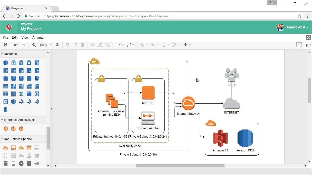 How to Draw AWS Architecture Diagram Online  YouTube