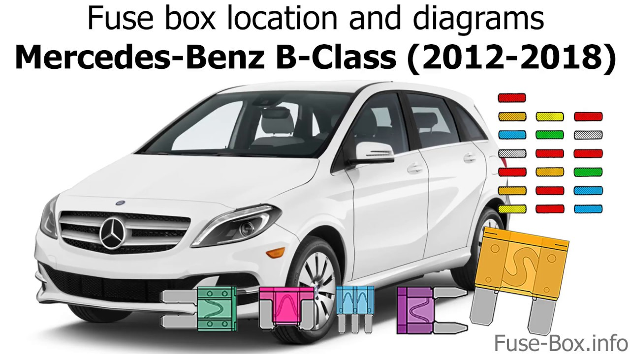 fuse box location and diagrams mercedes benz b class 2012 2018  [ 1280 x 720 Pixel ]