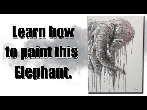 ⚫️ Raw - How to Airbrush and Paint an Elephant
